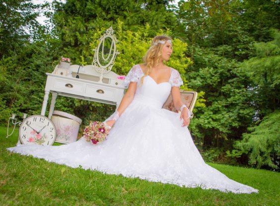 Robe de mariée bohème dentelle de Chantilly